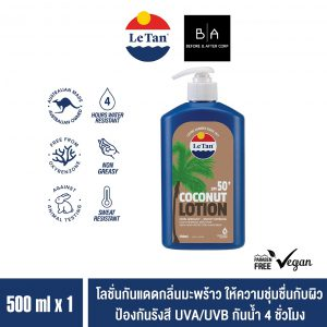 Le Tan SPF50+ Coconut Sunscreen Lotion 500 mL